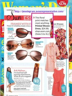 """Get ready for summer nights with Avon's Printed Woven Dress. The fashionistas at Woman's Day Magazine shared, """"This floral print matches most anything."""" 'Like' this post if you agree!"""