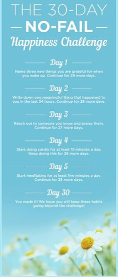 30 day happiness challenge...