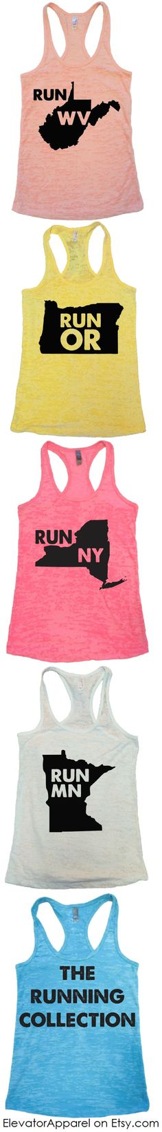 The Running Collection - Custom Tanks for any State, City, or Country! by Elevator Apparel