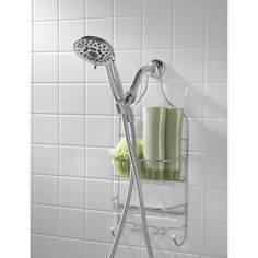 AquaSource Chrome 5-Spray Handheld Shower 2.5-GPM (9.5-LPM) in the Shower Heads department at Lowes.com Shower Hose, Shower Arm, Hand Held Shower, Shower Tile Designs, Wall Brackets, Polished Chrome, Lowes Home Improvements, Easy Install