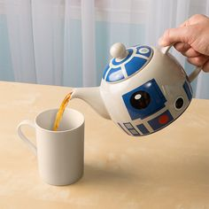 "This ceramic R2-D2 teapot that is an absolute necessity for your next Jedi tea party. | 31 Kitchen Products For People Who Seriously Love ""Star Wars"""