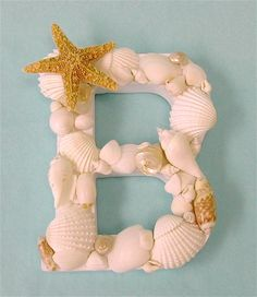 Love!  This is what I can do with all those shells we have laying around from our trips to Florida!!!