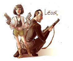 Leon et Mathilda by Crispy-Gypsy.deviantart.com on @deviantART