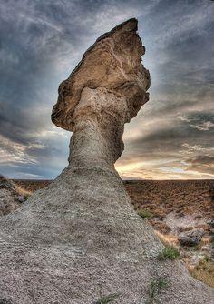 Balancing Rock at Badlands National Park, South Dakota