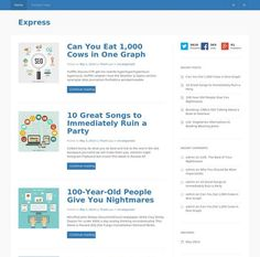 Express WordPress template