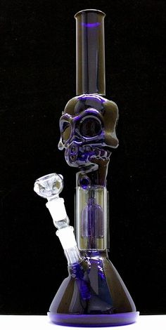 Smoked Out Pipes | Online Head Shop - Skull Tube 4 Arm Percolator Beaker Water Pipe, $199.99 (http://www.smokedoutpipes.com/skull-tube-4-arm-percolator-beaker-water-pipe/)