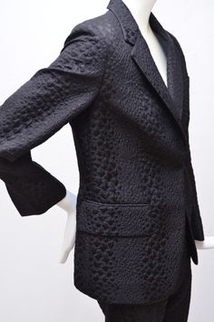 Tom Ford for Gucci Crocodile Textured Black  Suit | From a collection of rare vintage suits, outfits and ensembles at https://www.1stdibs.com/fashion/clothing/suits-outfits-ensembles/