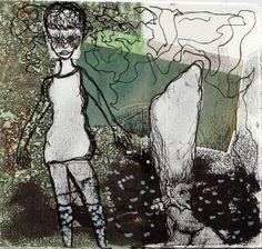 Kvindeliv 6 15x16 Grafik, tegning, collage