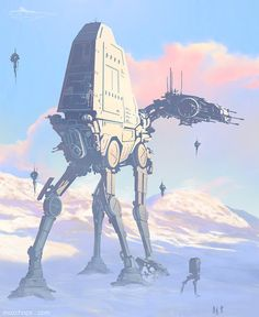 An advanced AT-AT controlled only by a Droid brain has gone haywire and has stormed out of its base. PCs must stop it before it destroys the town it is heading towards.
