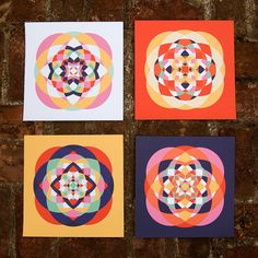 American Quilts Prints Set of Four by littlethingsstudio on Etsy