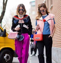 Street Style: Milan Fashion Week Fall 2015 Candela Novembre & The Blonde Salad by Chiara Ferragni