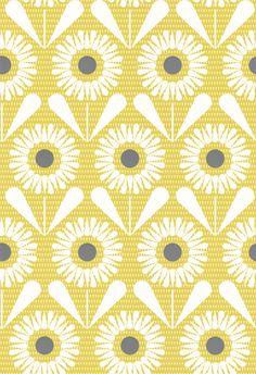 Sunny Flower by Layla Faye - Buttercup Yellow : Wallpaper Direct Hall Wallpaper, Kitchen Wallpaper, Grey Wallpaper, Flower Wallpaper, Pattern Wallpaper, Wallpaper Ideas, Yellow Bathroom Decor, Yellow Bathrooms, Bathroom Ideas