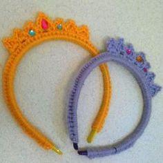 Girls Crochet Headband Tiara | AllFreeCrochet.com