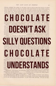so true :) Maybe I'll just date chocolate...