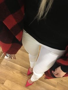 from-above-gingham-cape-white-denim-red-pumps http://styledamerican.com/latest-roundup/