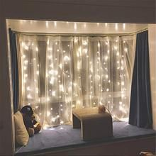 Twinkle Star 300 LED Window Curtain String Light Wedding Party Home Garden Bedroom Outdoor Indoor Wall Decorations, Warm White String Lights In The Bedroom, Indoor String Lights, String Curtains, Window Curtains, Party Wall Decorations, Birthday Decorations, Garden Bedroom, Room Ideas Bedroom, Bedroom Decor