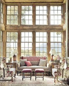 "House Beautiful (@housebeautiful) on Instagram: ""Windows on windows on windows.(: @annieschlechter | Design: Jane Hawkins Hoke | Architecture:…"""
