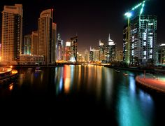 Dubai Marina-- makes me remember shisha nights!