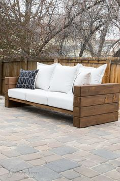 DIY Outdoor Sofa | Garrison Street Design Studio