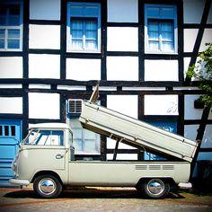 VW Split bus tipper Volkswagen pickup flatbed camper campervan kombi