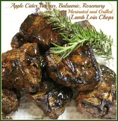 Apple Cider Vinegar, Balsamic, Rosemary Marinated and Grilled Lamb Loin Chops  The Kitchen Chopper