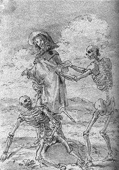 Leonaert Bramer - Quevedo and the Skeletons of Juan de la Encina and King Perico