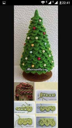 Christmas Tree New Year pattern ---Turns out the one I pinned earlier had no link! This one links to the pattern on Etsy :DA friend made one of these for me.with snow trimming on the edges. Crochet Christmas Wreath, Crochet Christmas Decorations, Christmas Tree Pattern, Crochet Ornaments, Christmas Crochet Patterns, Christmas Knitting, Christmas Tree Ornaments, Crochet Tree, Crochet Dolls Free Patterns