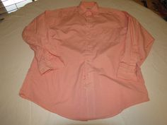 Mens Brooks Brothers 15-3 orange long sleeve button shirt Mens adult EUC @ #BrooksBrothers #ButtonFront