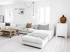 White washed or painted white floors in the rental unit will help bring light through the unit. In contrast to painting, white wash allows more of the original wood grain to show through. If given the right finish, these are not difficult to keep clean.