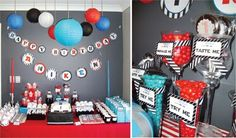Our second boy party feature has to be the most unique and creative birthday that I have ever seen. This party has blown us away. Baby Boy Birthday, Birthday Fun, Birthday Parties, Birthday Ideas, Star Wars Birthday, Star Wars Party, Rock Star Theme, Baby Boy Decorations, Party Rock