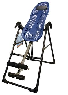 Teeter Hang Ups EP-550 Inversion Therapy Table. Inversion therapy table designed to reduce back pain and improve posture. Elongates the spine and relieves pressure on discs, ligaments, and nerve roots. Backrest with Flex Technology produces greater mobility and range of motion. Adjustable foot platform with 2 settings; EZ Angle tether strap; adjustable pillow. Includes instructional DVD; 300-pound user capacity; 5-year warranty.