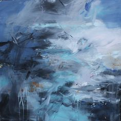 Janette Kerr's contemporary and experimental paintings of sea and sky in wild weather return to Sladers Yard in Radiance explorations of light 5 November to 22 January 2017.