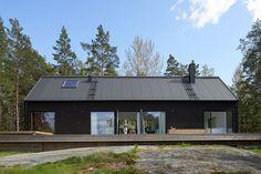 12 maison contemporaines habillées de noir   Construire Tendance