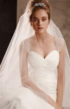 Illusion Layered Chapel Wedding Veil (Style Code: 10928) US$24.99