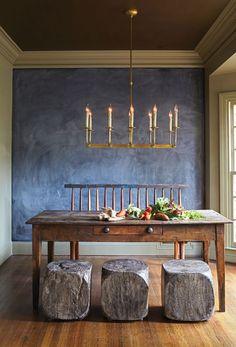 Chalk wall - Natural Instincts - Birmingham Home  Garden.  kkt Kronleuchter für Wohnzimmer