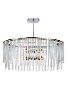 8-Light Polished Chrome Chandelier by Crystorama at Gilt