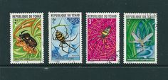 Chad - Great Set of 4 Stamps of Insects Used | eBay
