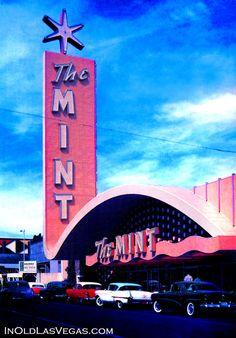 Vintage Las Vegas 1957 ~ The Mint Casino (now part of Binion's Casino)