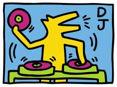 Giclee on premium paper, 2014. Paper Size: 19'' x 24.'' Unsigned and unnumbered. Published by BMG, Inc. Excellent Condition; never framed or matted. KEITH HARING (1958-1989) A leading Neo-Pop artist,