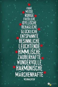 #weihnachten #sprüche #weihnachtskarten Diese und 19 weitere schöne Weihnachtskarten findet Ihr auf ROOMBEEZ! ✵