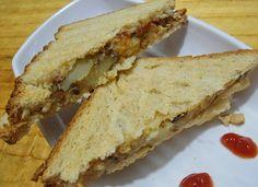 Babi 's Recipes: Sprouts Sandwich | Sprouts Potato Sandwich | Healthy Breakfast