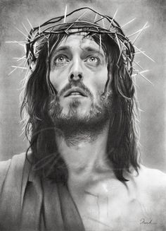 """Artistic rendition of the Actor Robert Powell, who played the part of Jesus Christ in the movie """"Jesus of Nazareth"""" in 1977."""