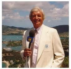 Cricketer Richie Benaud, now a cricket commentator