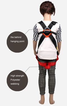 Kids Full Body Harness Youth Safety Comfort Zipline Climbing Harness Belts for Outdoor Expanding Training Caving Rock Rappelling Equip S 410 Years *** Check this awesome product by going to the link at the image. (This is an affiliate link) Climbing Harness, Rappelling, Full Body, Children, Kids, Belts, Safety, Youth, Training