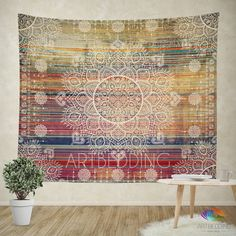 Mandala Tapestry, Mehendy henna ethno mandala wall tapestries, bohemian tapestry, Indie vintage mandala decor