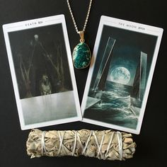 1/21/16 - Two of the most powerful tarot cards of healing and transformation in today's reading, Death and The Moon, tell us that we are ready to release what binds us. Whatever has been haunting you from your past—maybe a traumatic memory, a regret, feelings of anger, resentment, shame or envy—you will know it no longer serves you. This moment of realization will likely be a quiet one, or maybe no moment at all because the process of letting go has already happened within you.