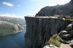 Hiking Heaven Cliffs in Norway - Part-III: Preikestolen Best Vacation Spots, Best Vacations, Pulpit Rock Norway, Places To Travel, Places To Visit, Pictures Of Beautiful Places, The Great White, Stavanger, Natural Scenery