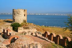 Ruins which were part of the Ottoman rule in the town of Nesebar. Today the town is one of the major seaside resorts on the Bulgarian Black Sea Coast