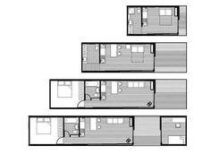 Resultado de imagem para prefab houses = zenkaya eco homes Tiny House Layout, Tiny House Cabin, Tiny House Design, Small House Plans, House Layouts, House Floor Plans, Modular Homes, Prefab Homes, Log Homes