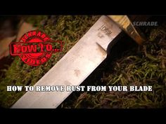 In this Schrade Quick Tip Video we're going to show you some fast and effective ways to remove rust from your knife's blade. Hang around until the end to fin.